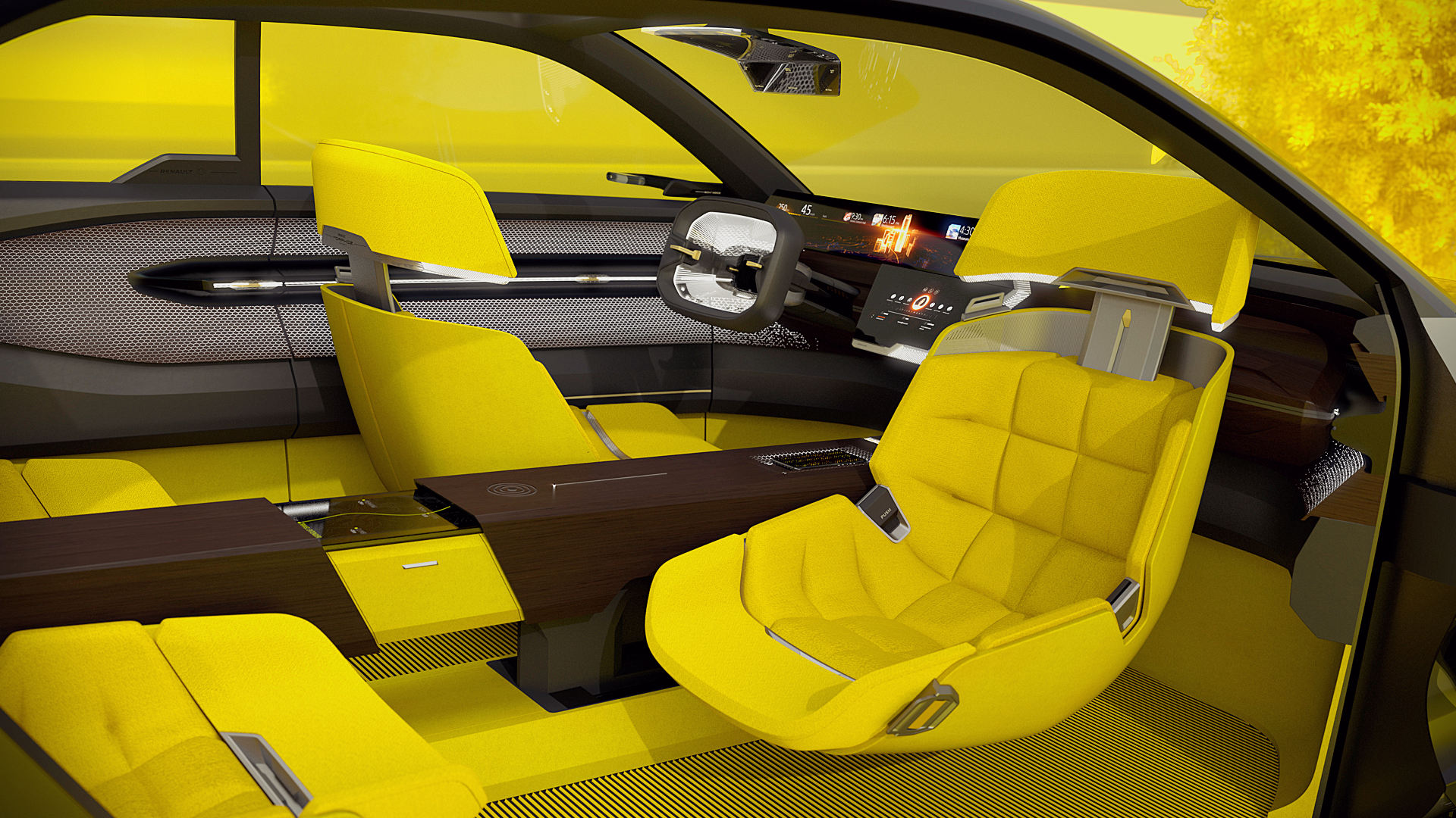 Renault Morphoz 2020 Interior Seats Wallpaper