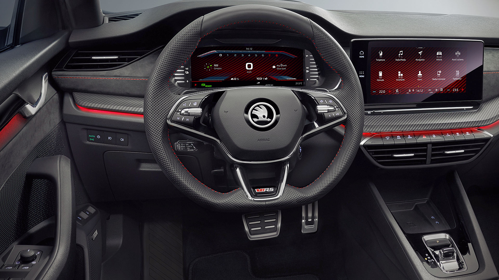 Skoda Octavia Rs Iv 2020 Interior Wallpaper