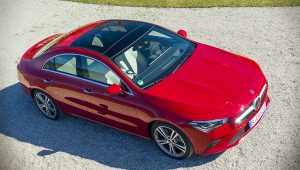 2020 Mercedes Benz CLA Class Red Wallpaper