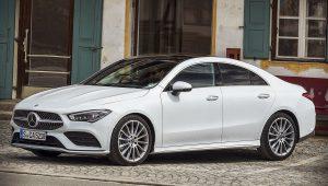 2020 Mercedes Benz CLA Class White Wallpaper