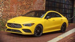 2020 Mercedes Benz CLA Class Yellow