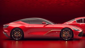 2020 Aston Martin DBS GT Zagato Red Wallpaper