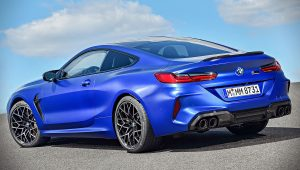 BMW M8 Competition Coupe 2020 Blue Wallpaper