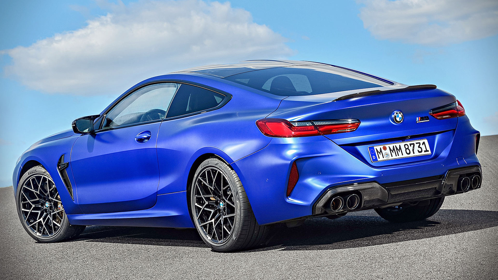 Mazda 2 Seater >> BMW M8 Competition Coupe 2020 Blue Wallpaper