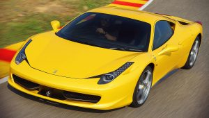 2015 Ferrari 458 Italia Yellow Wallpaper