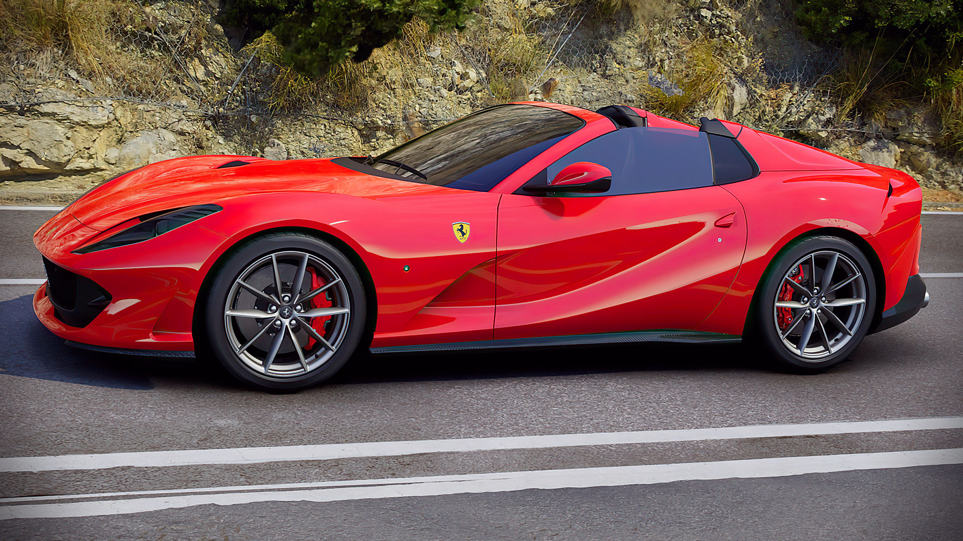 2020 Ferrari 812 GTS V12 Spider Red