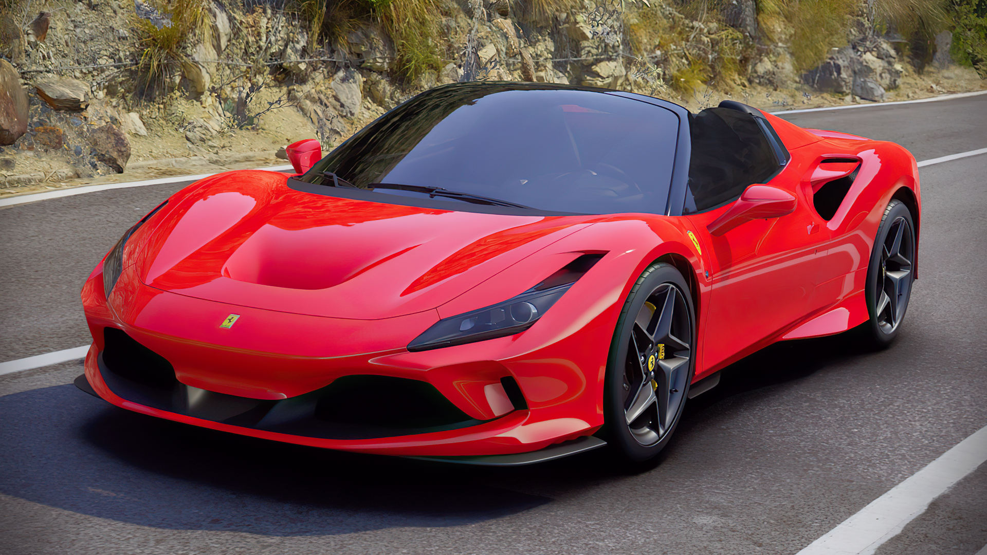 2020 Ferrari F8 Spider Red Colors