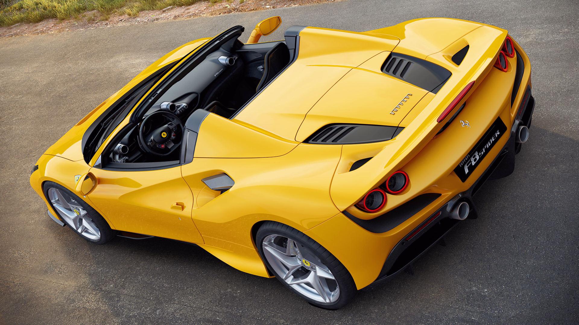 2020 Ferrari F8 Spider Convertible Yellow