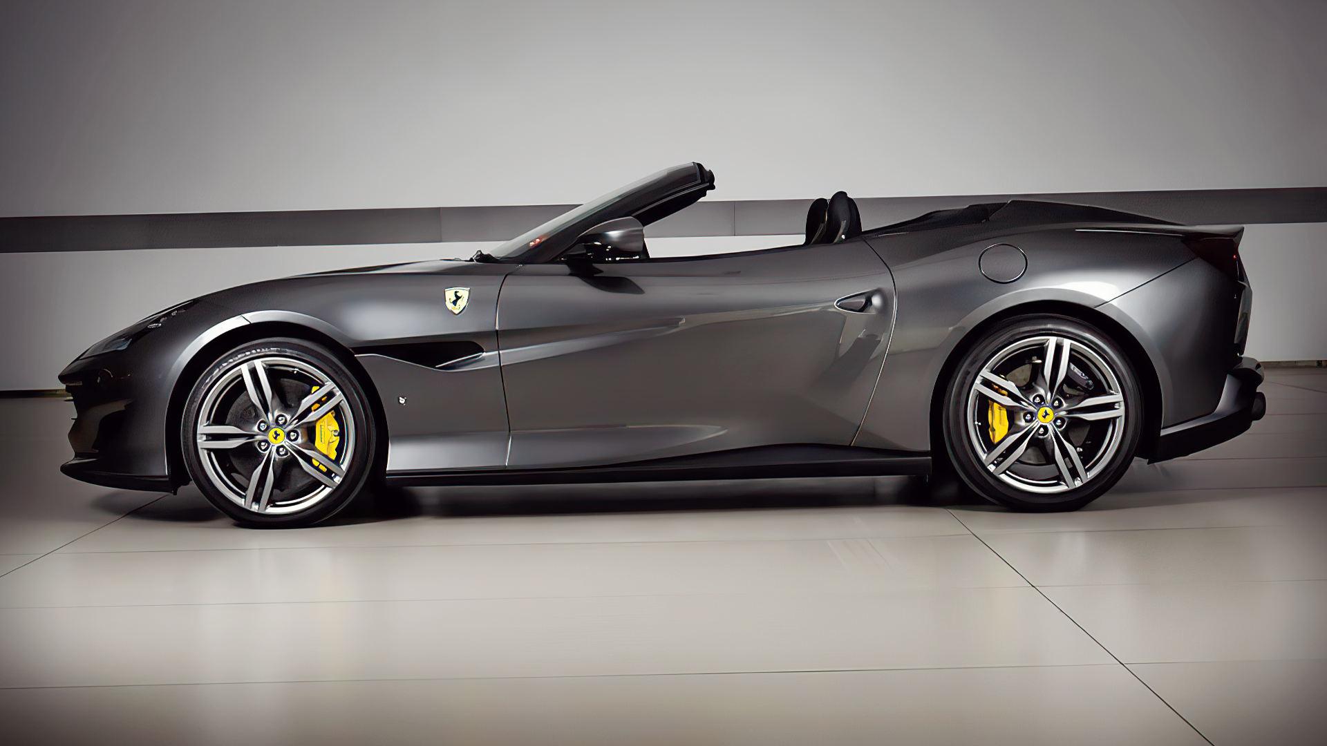 2019 Ferrari Portofino Black Wallpaper