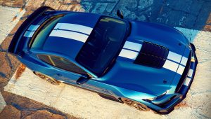 2020 Ford Mustang Shelby GT500 Blue Images Wallpaper