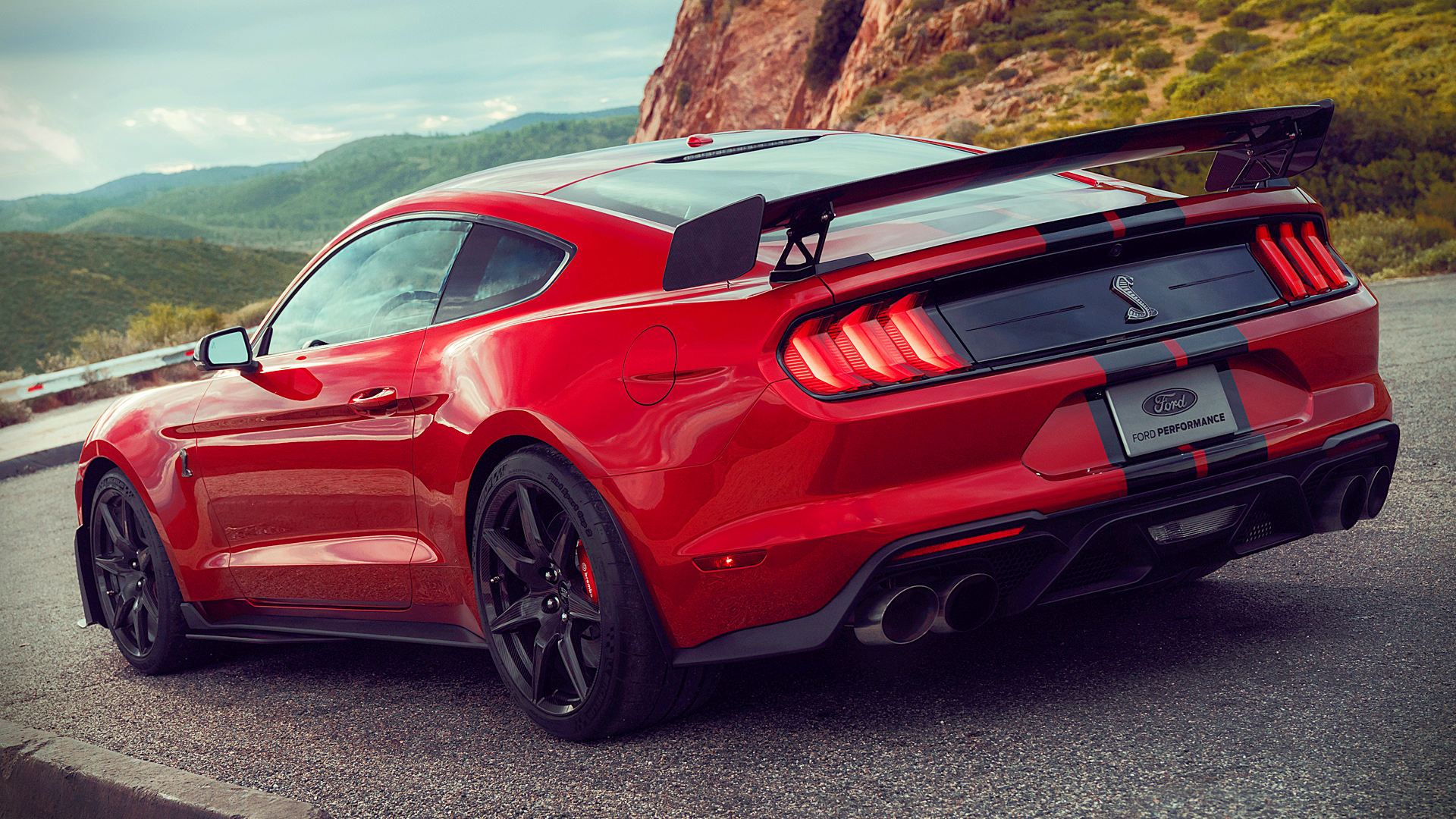 2020 ford mustang shelby gt500 red wallpaper