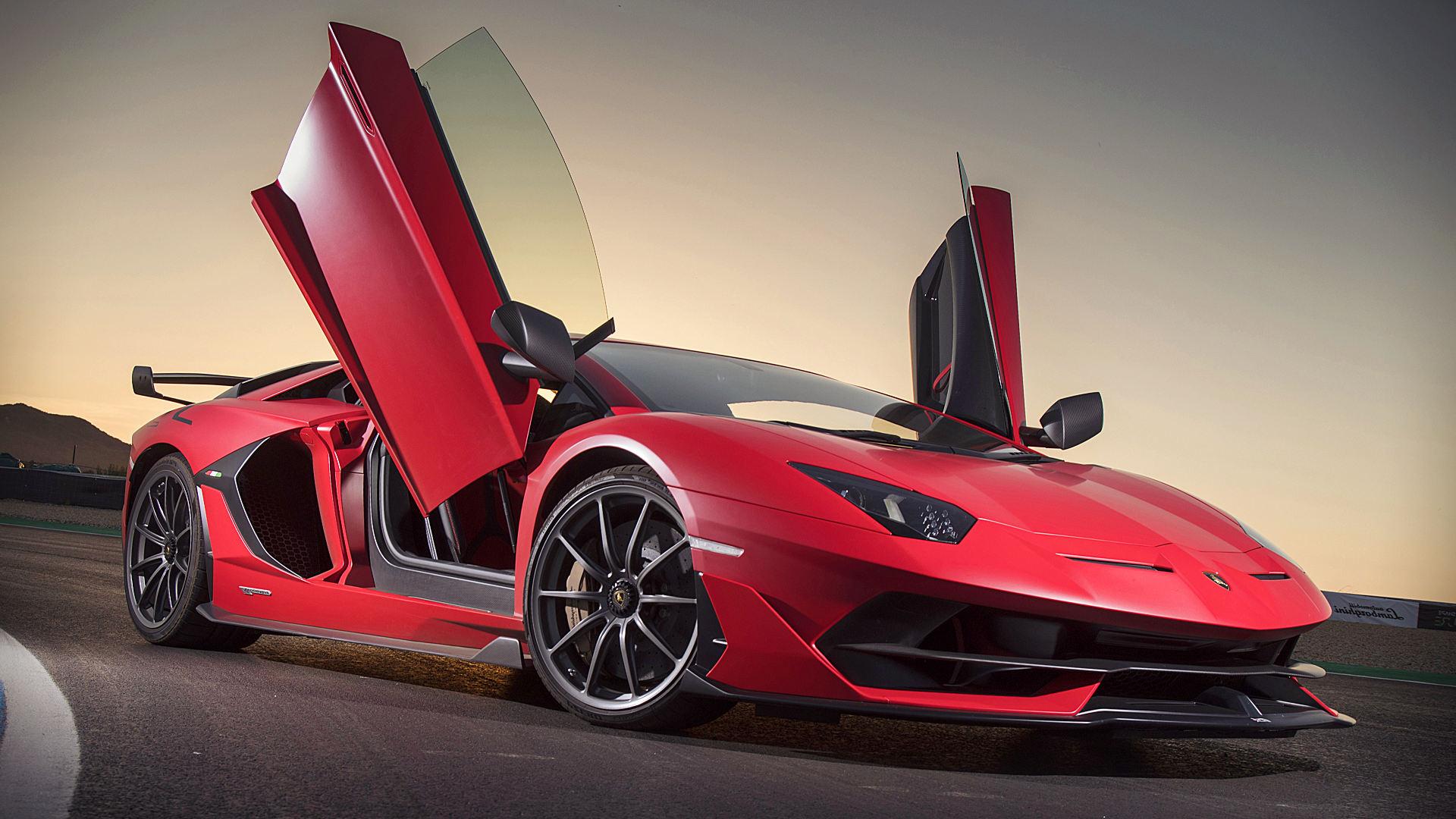 2019 Lamborghini Aventador Svj Red