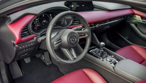 2020 Mazda 3 Hatchback Red Interior