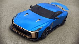 2021 Nissan GT-R50 Italdesign Blue Images Pictures