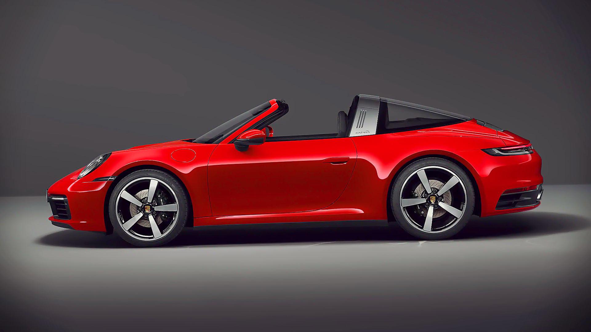 2021 Porsche 911 Targa 4S Red Wallpaper