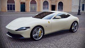2020 Ferrari Roma White Images Pictures