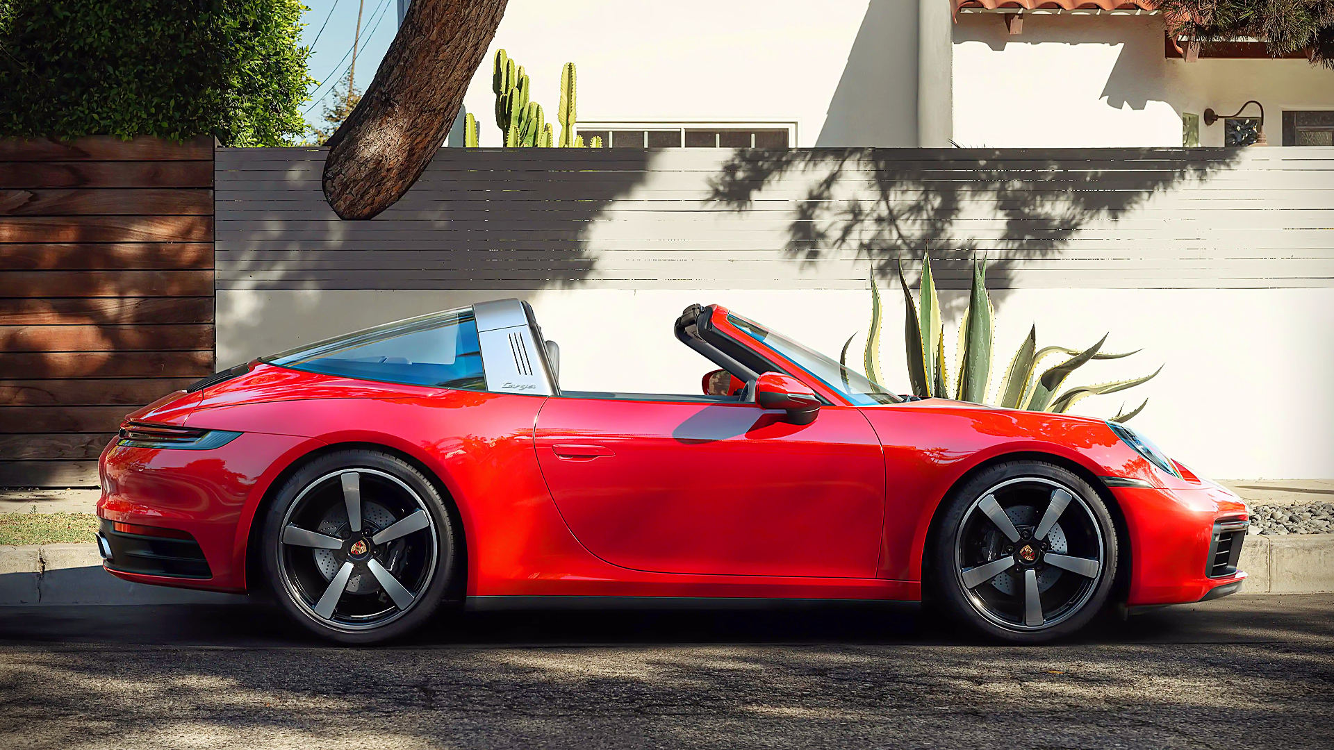 2021 Porsche 911 Targa 4 Red Images Wallpaper