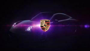 Porsche Logo Black Car Background