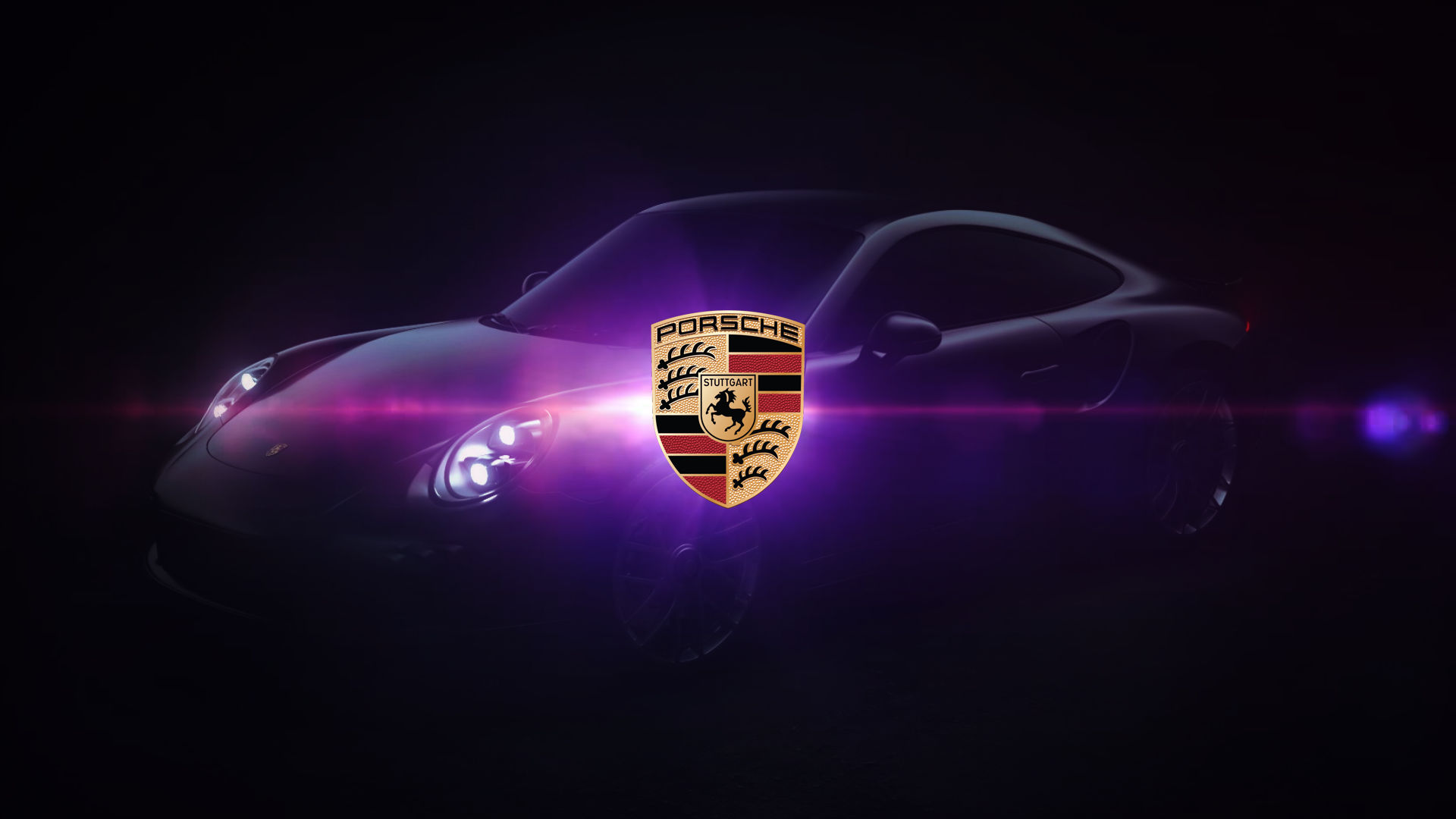 Porsche Logo Black Car Background