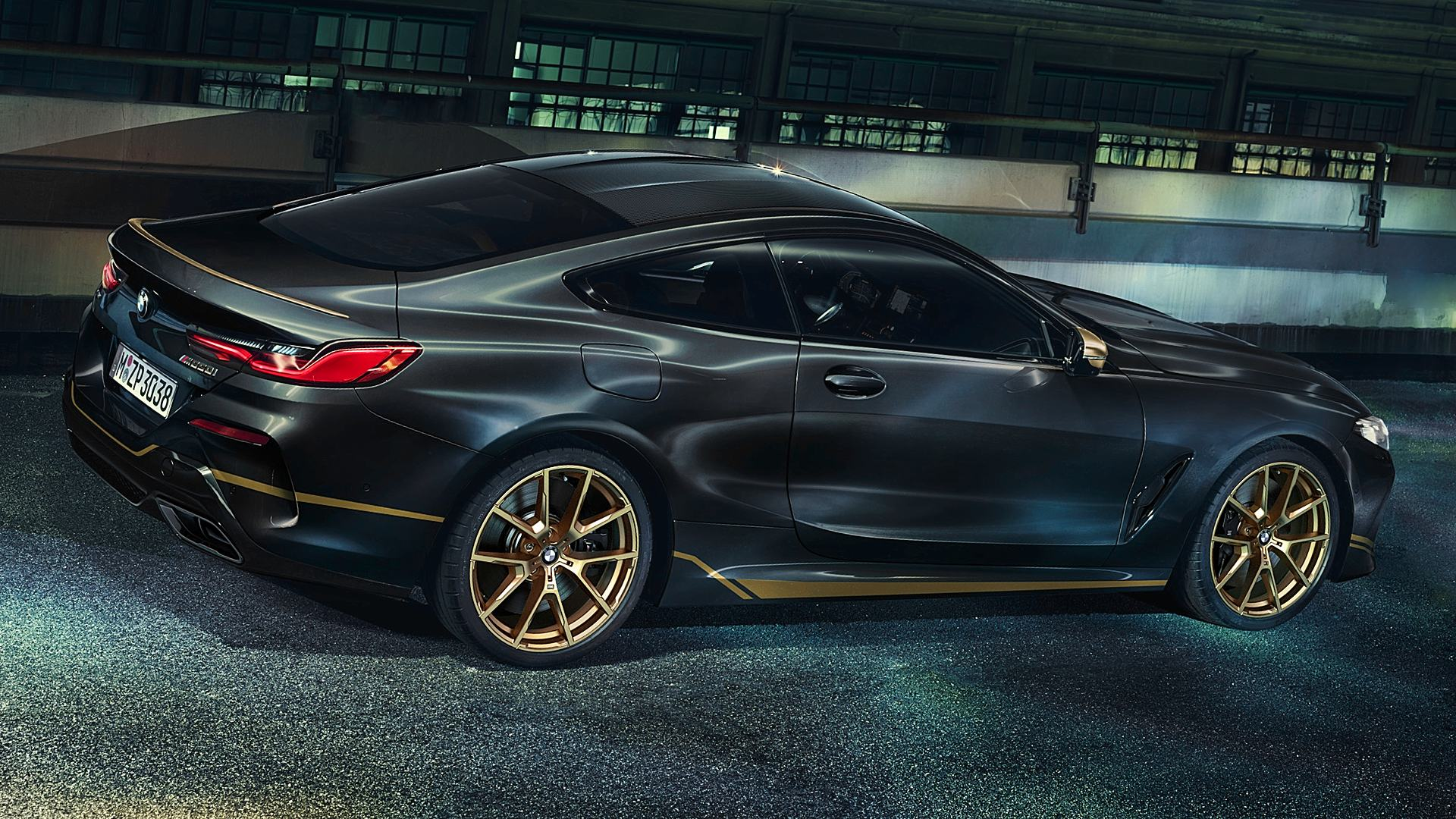 2020 BMW 8 Series Coupe Black Gold Images