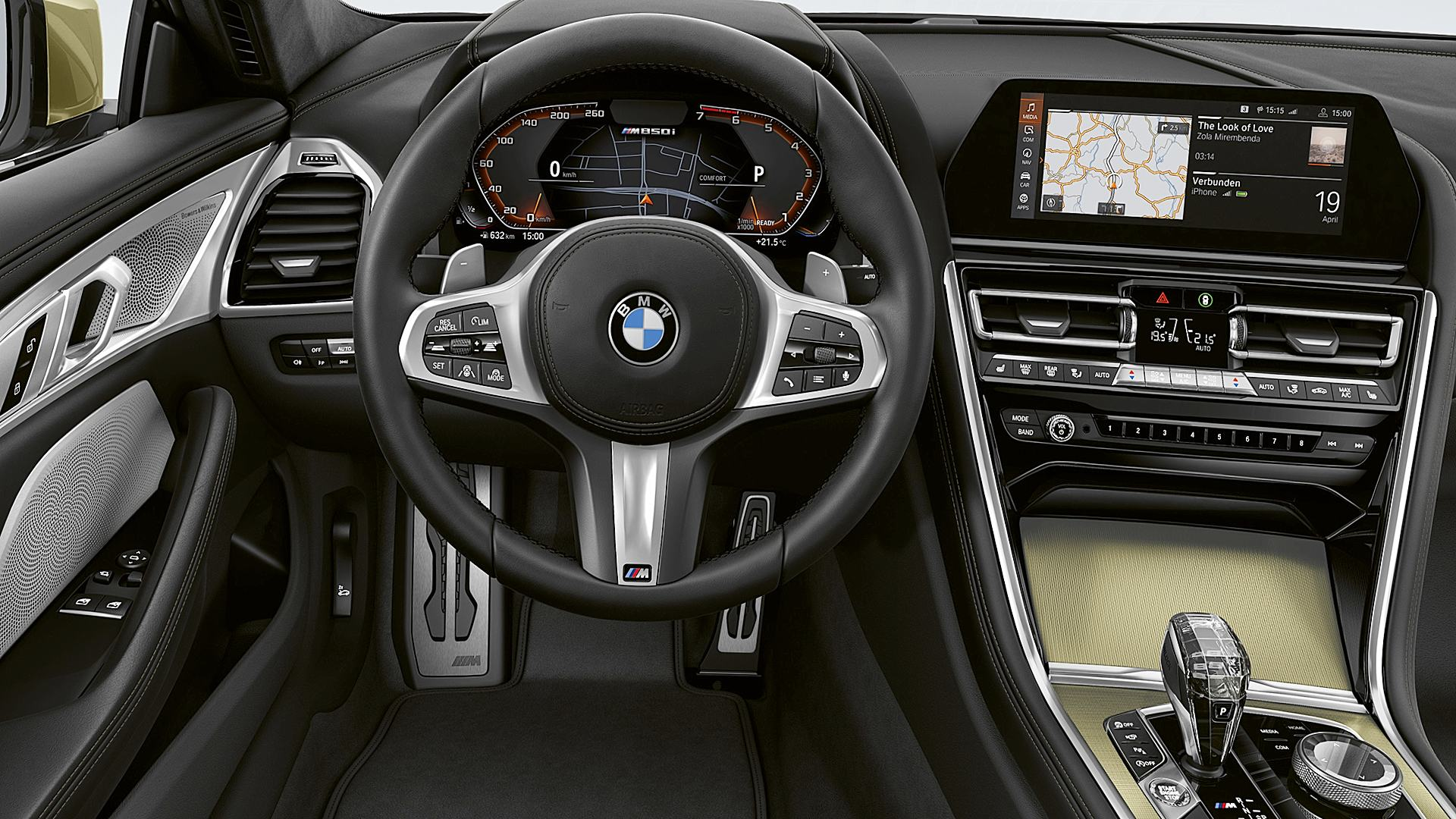 2020 BMW 8 Series Golden Thunder Interior
