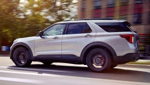 2020 Ford Explorer ST White Photos