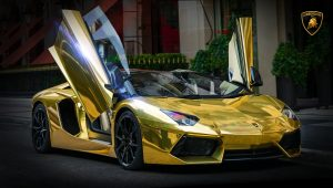 Pictures of Gold Lamborghini Wallpaper