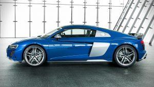 2020 Audi R8 V10 Blue Pictures Images