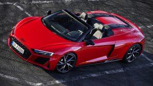 2020 Audi R8 Spyder V10 Red Images