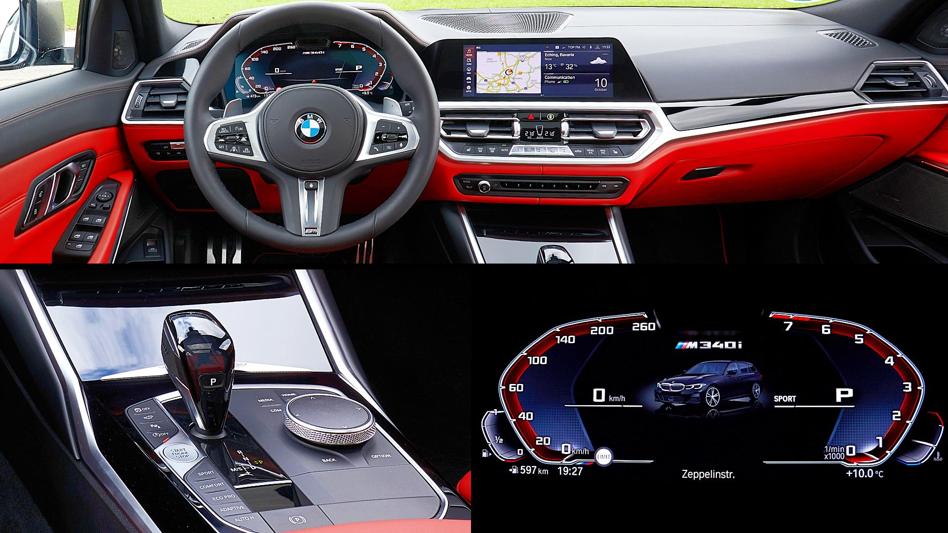 2020 BMW 3-Series M340i Interior Images