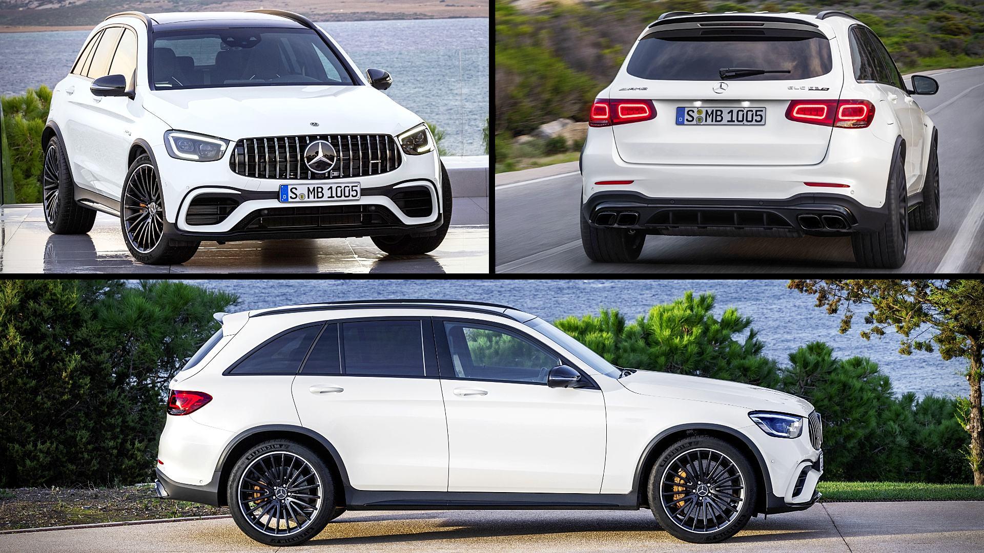 2020 Mercedes Amg Glc 63 S White Suv Images