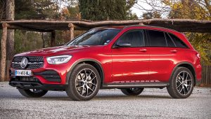 2020 Mercedes AMG GLC Red SUV Pictures
