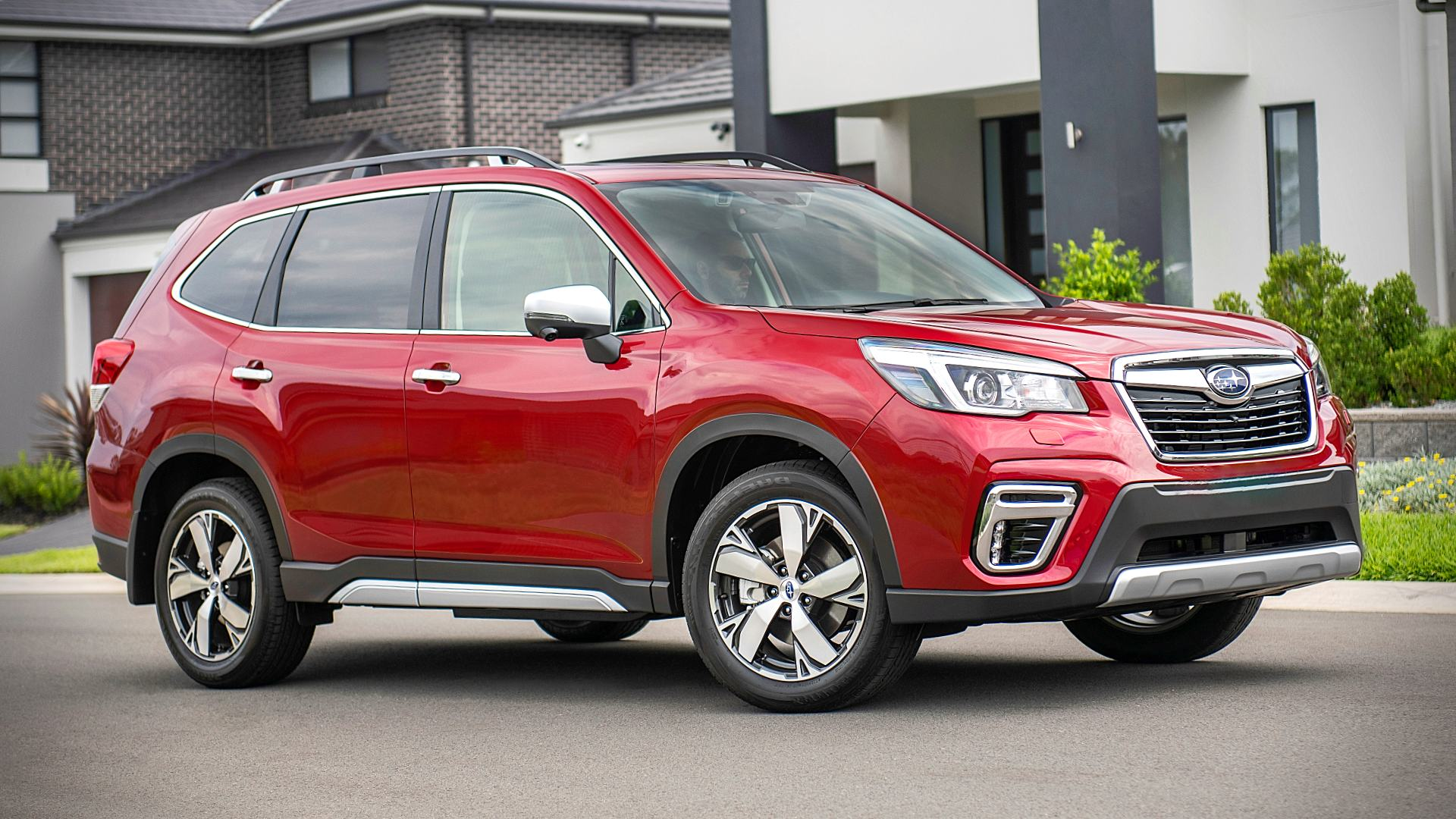 2020 Subaru Forester Hybrid E-Boxer Red Pictures Images