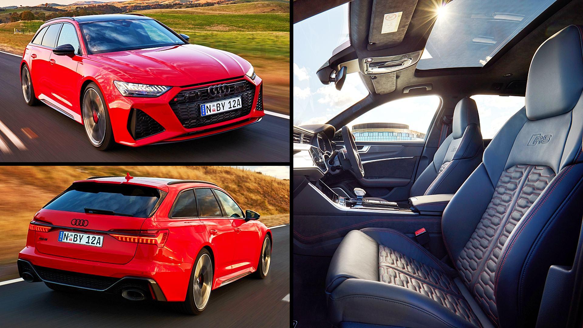 2021 Audi RS6 Avant Red Photos Images