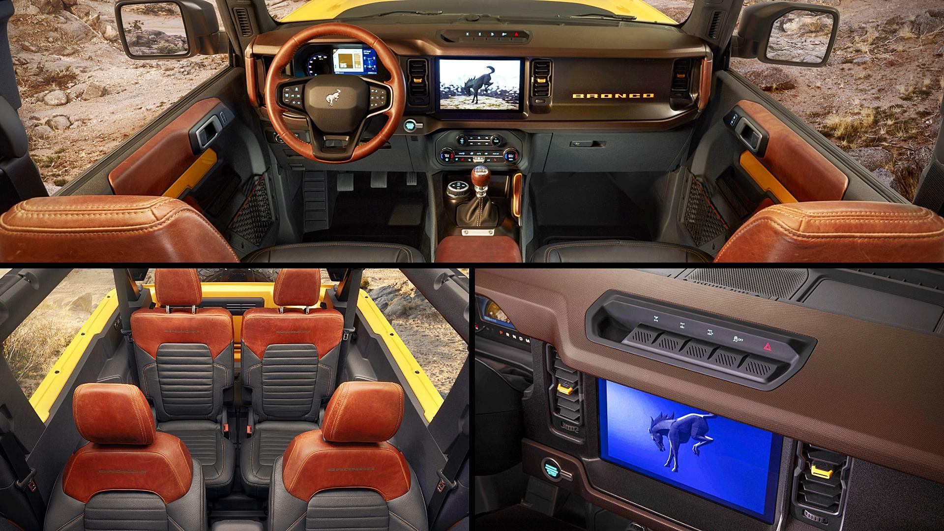2021 Ford Bronco 2 Door Interior Inside