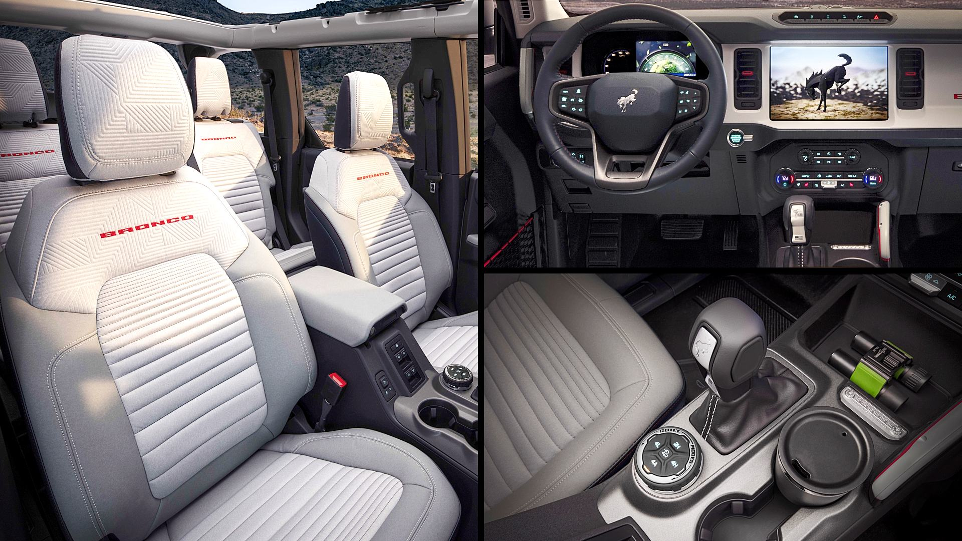 2021 Ford Bronco 4 Door Interior Images