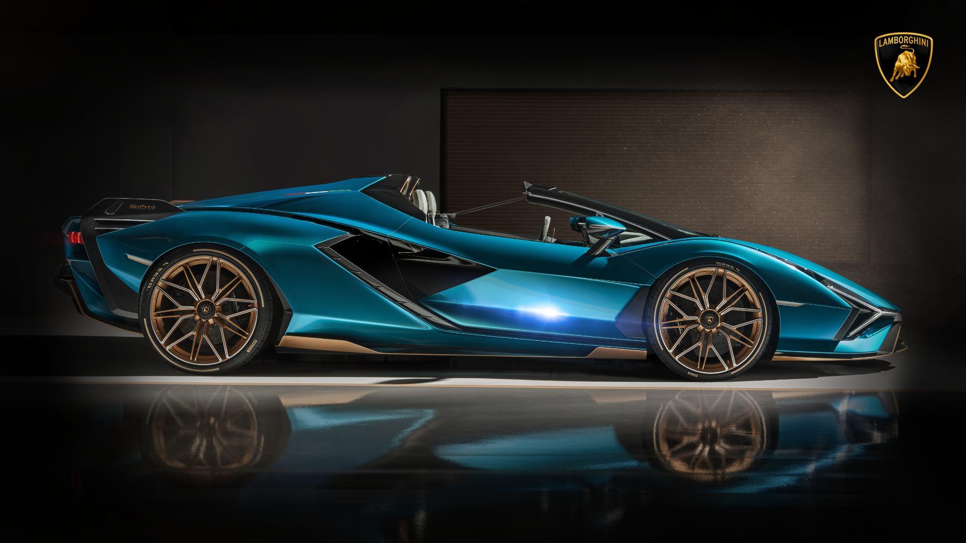 2021 Lamborghini Sian Roadster Car Wallpaper Pictures