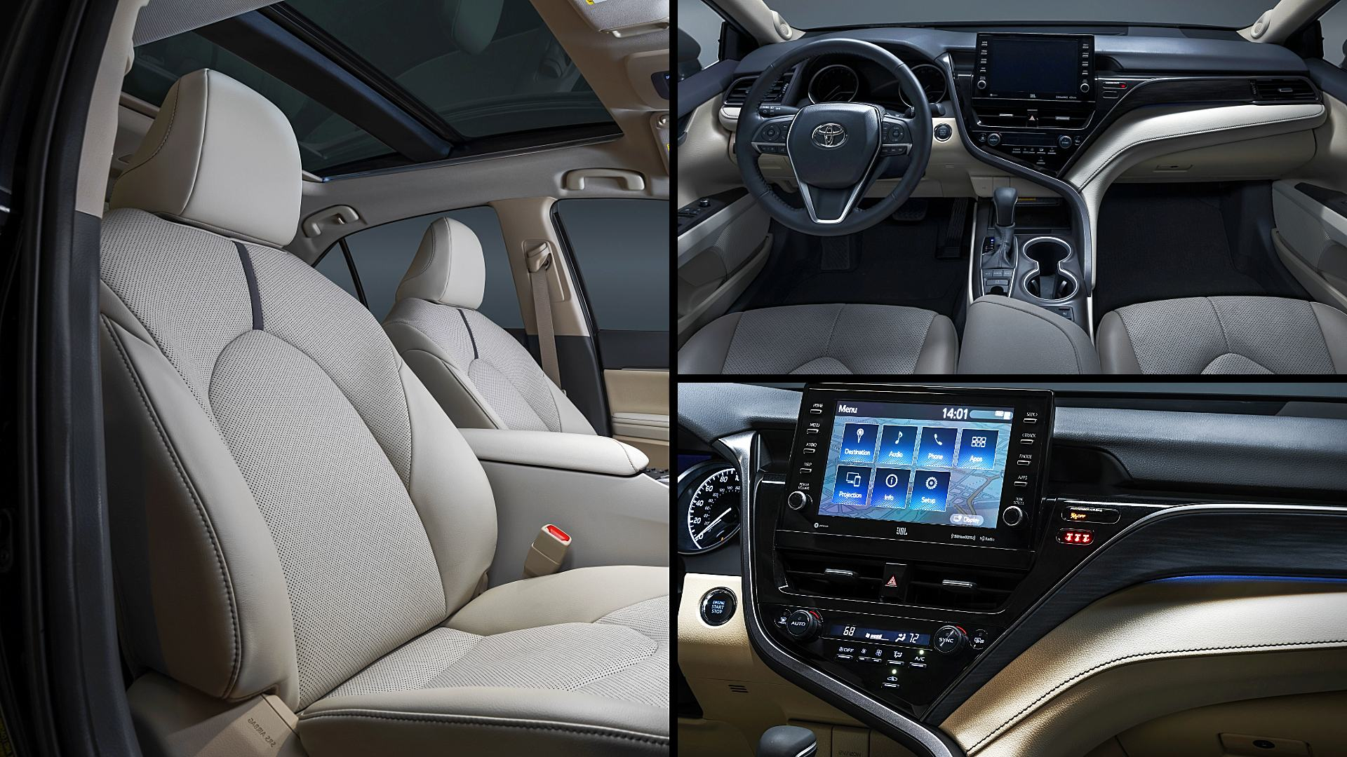 2021 Toyota Camry XLE Interior Images