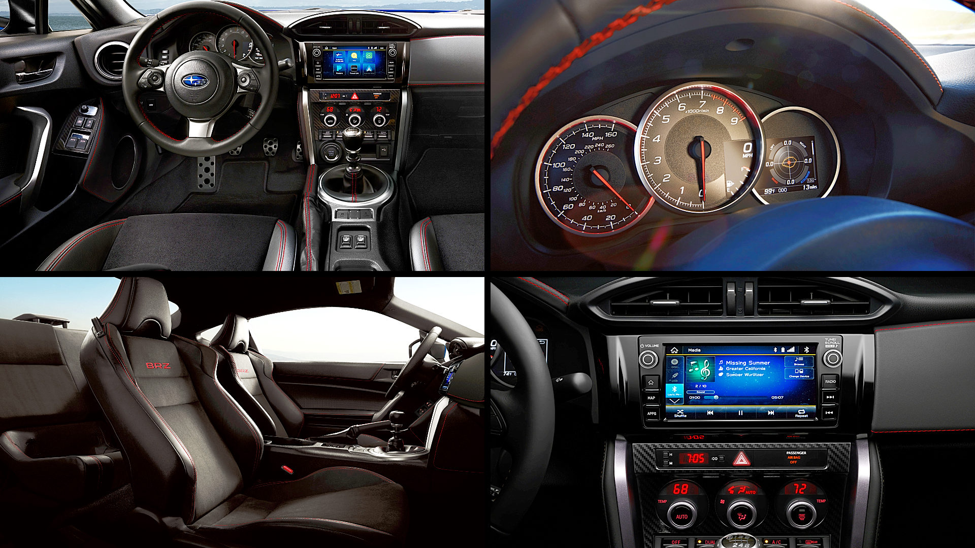 2020 Subaru BRZ Limited Interior