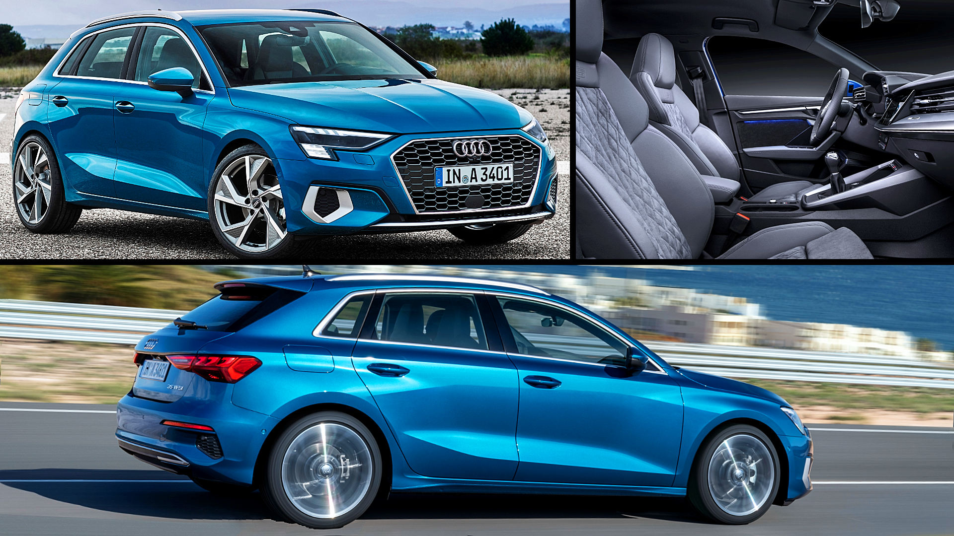 2021 Audi A3 Sportback Blue Colors Pictures
