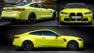 2021 BMW M4 Competition Yellow Coupe