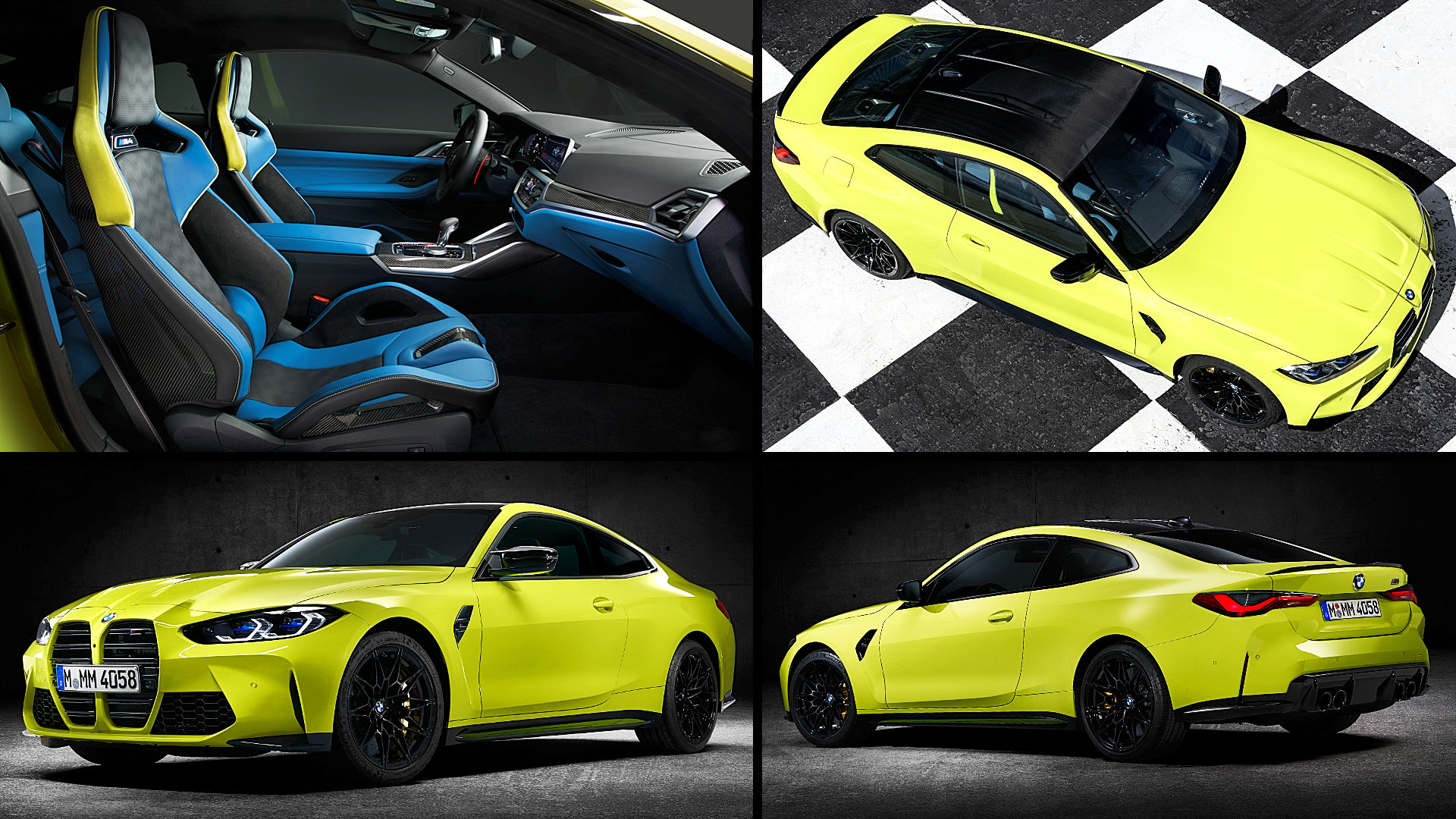2021 BMW M4 Yellow Coupe Inside Pictures