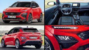 2021 Hyundai Kona Red SUV Images