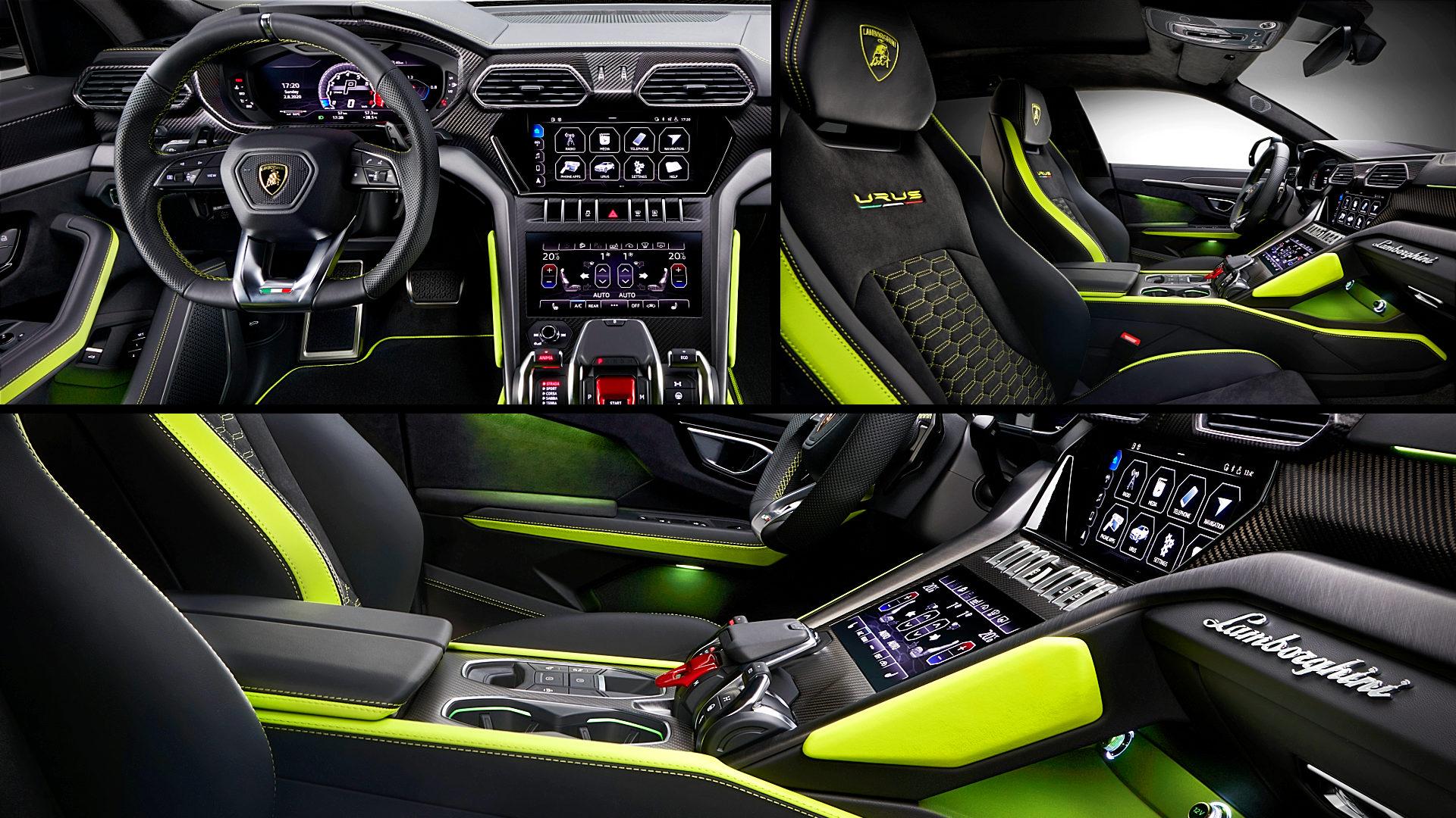 2021 Lamborghini Urus Black Interior Inside