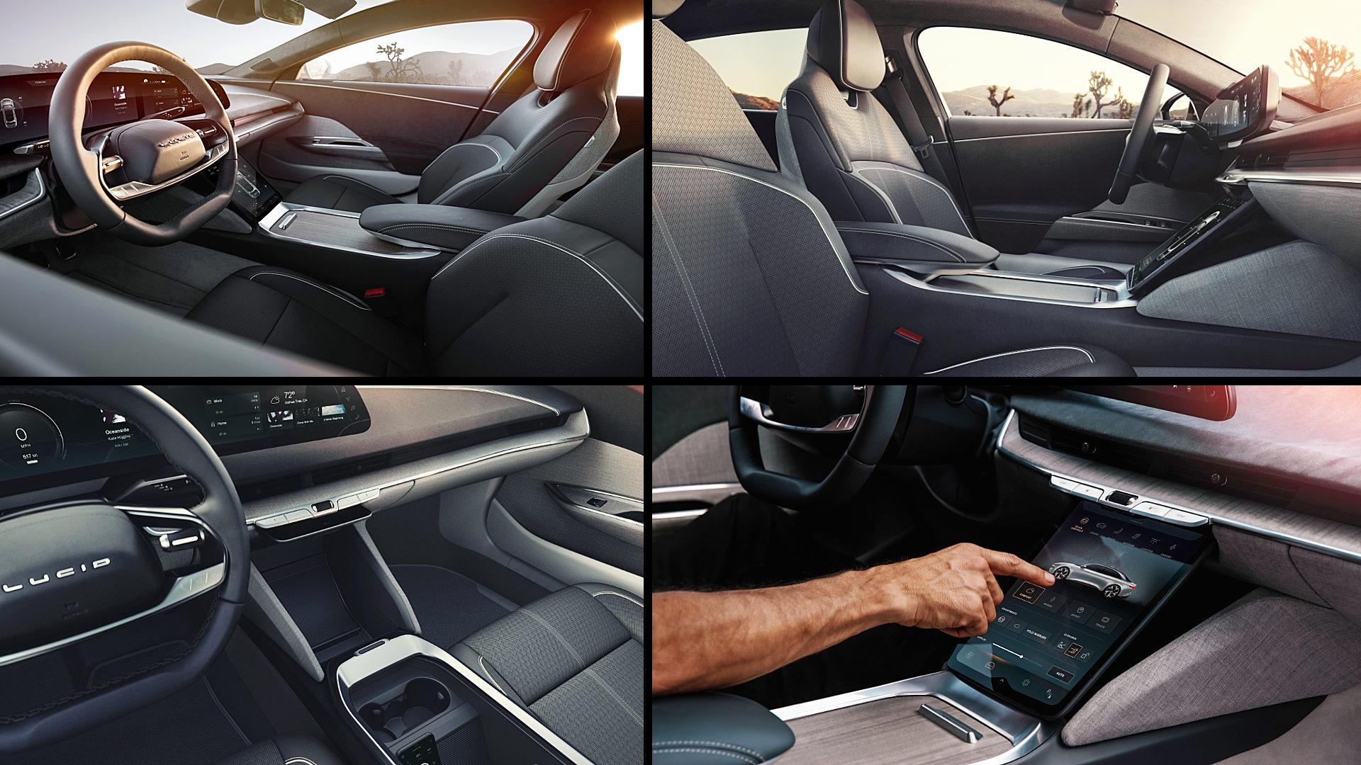 2021 Lucid Air Electric Sedan Interior