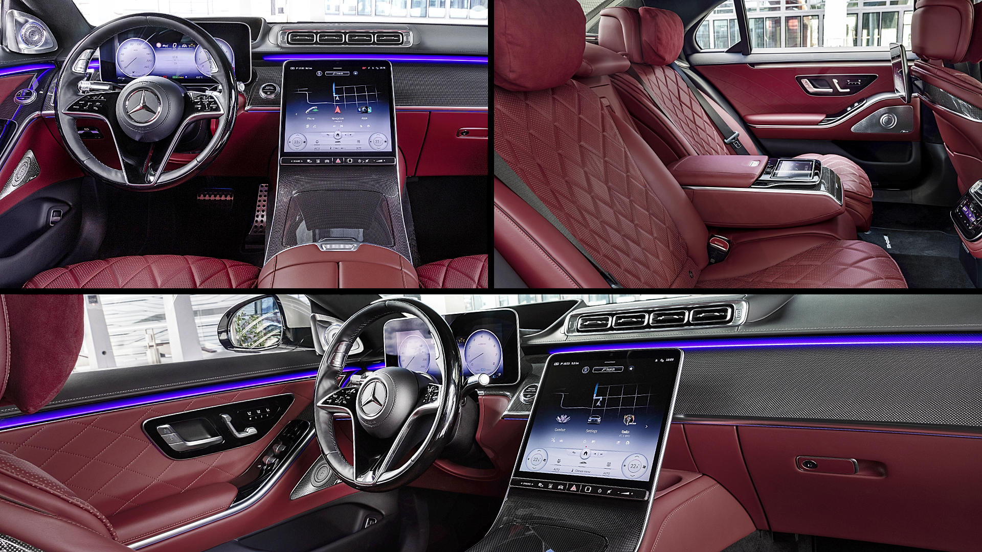 2021 Mercedes-Benz S-Class Red Interior Images