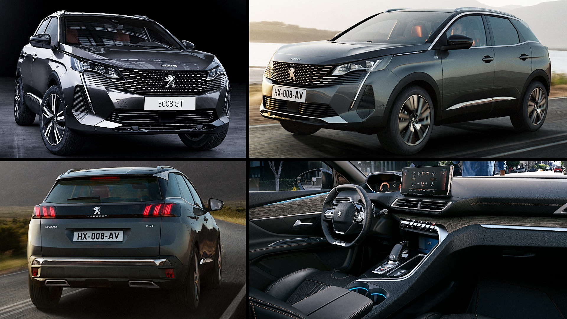 2021 Peugeot 3008 GT Black SUV