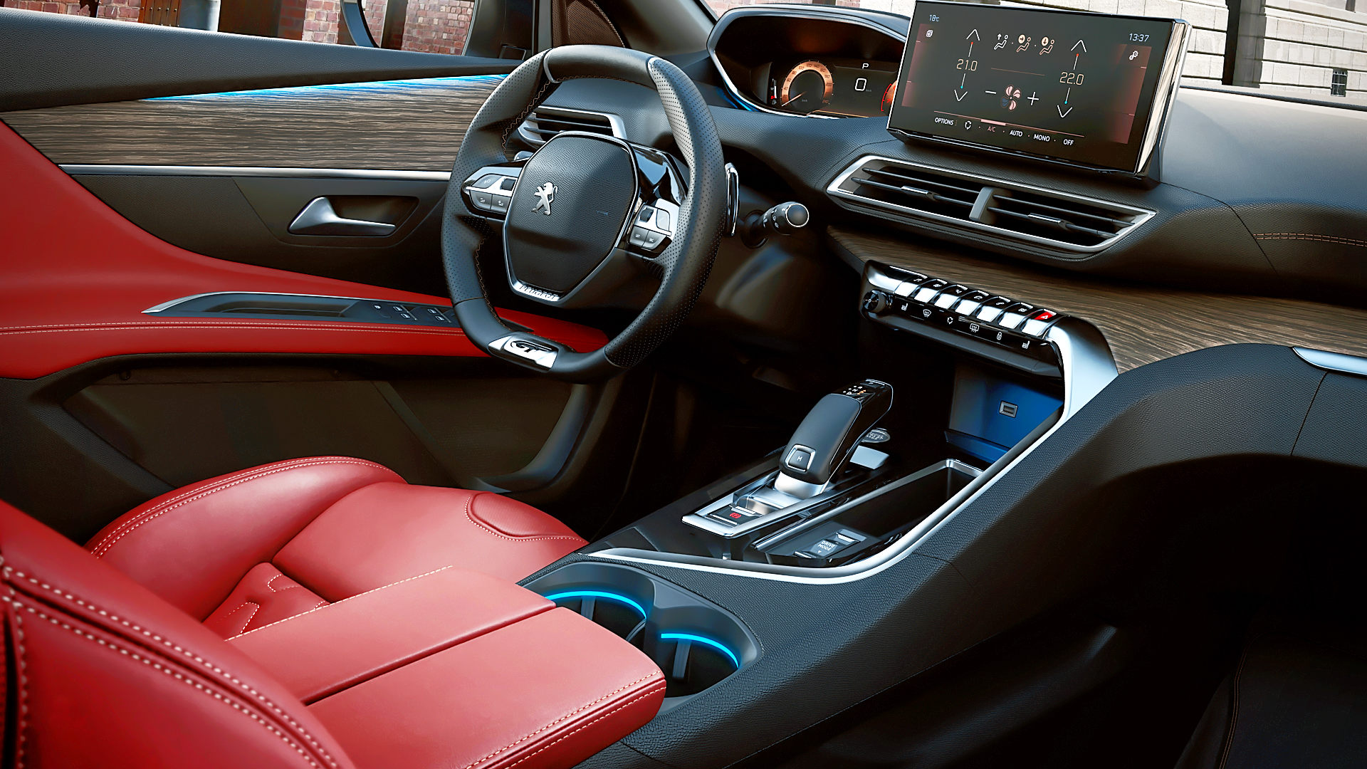2021 Peugeot 3008 GT Interior Red