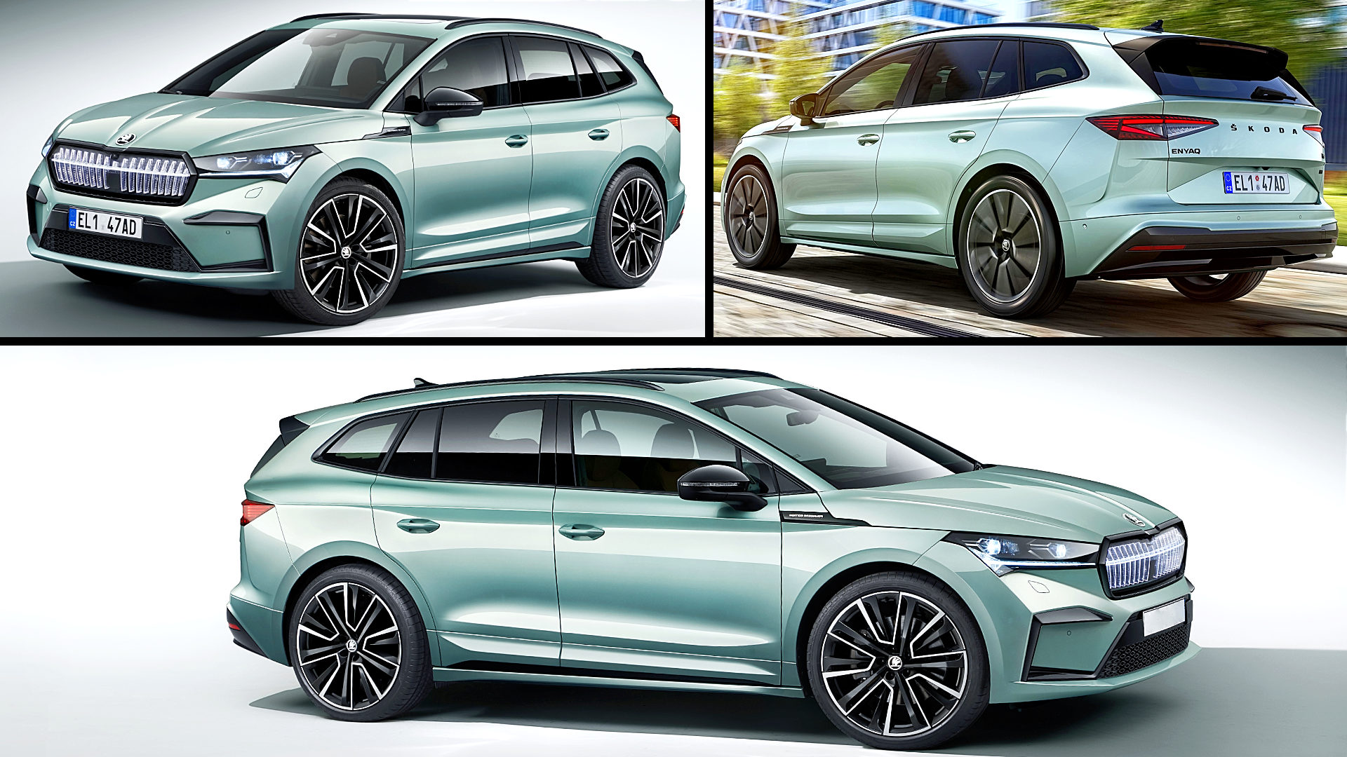 2021 Skoda Electric Crossover Enyaq iV Pictures Images