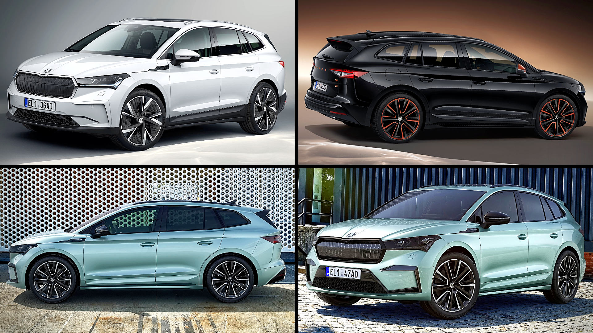 2021 Skoda Enyaq iV Crossover SUV Models Colors Photos